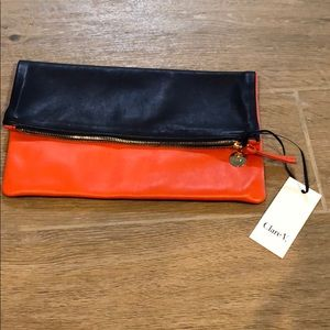 NEW Clare V fold over clutch Claire Vivier